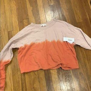 Spritual Gangster tie dye crop sweatshirt XS